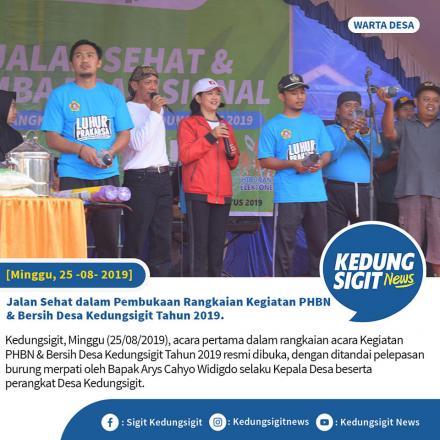 Jalan Sehat dalam Pembukaan Rangkaian Kegiatan PHBN & Bersih Desa Kedungsigit Tahun 2019